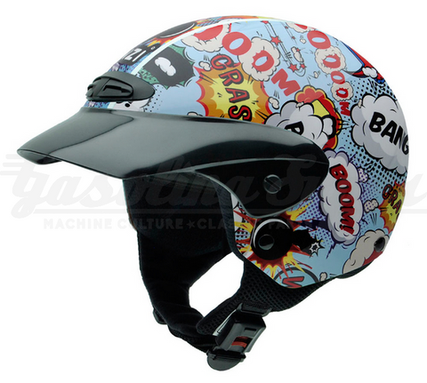 Capacete NZI aberto SINGLE II JUNIOR BOOM