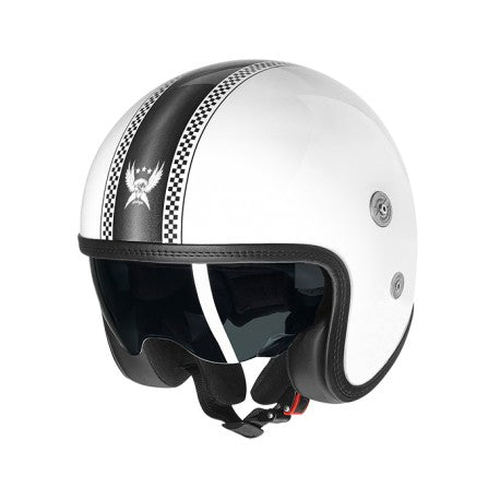 Capacete CMS  SV Vintage Roadster White