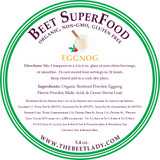 The Beet Lady EggNog Beet Superfood Ingredients