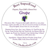 (GRAPE)Beet SuperFood - Liver & Bile, Kidney Cleanse,Lowers Blood Pressure, Brain and Heart Health, Prevents Degenerative Diseases, Constipation, Migraines, Sleep, Regulates Liver Enzymes, Nervous System