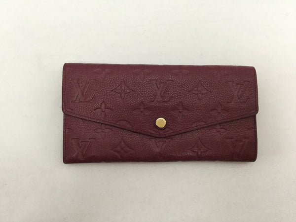 Louis Vuitton Empreinte Leather Burgundy Curieuse Aurore Wallet