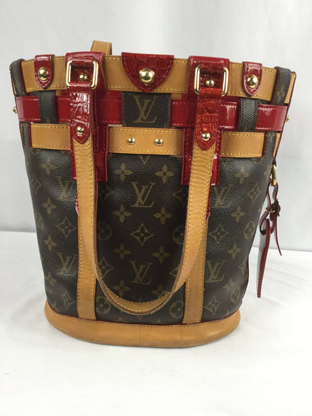 Louis Vuitton Monogram Ruby Rouge Neo Bucket Bag