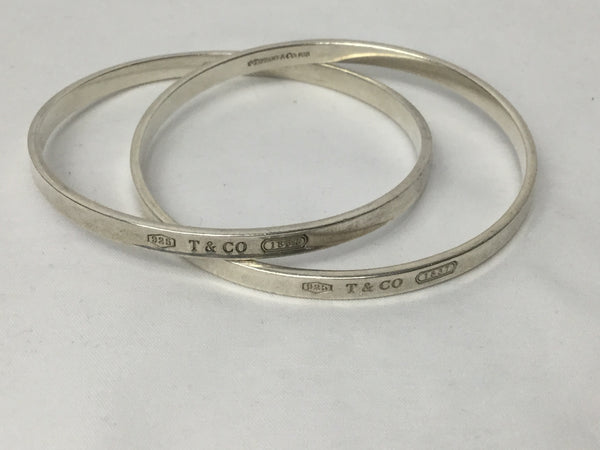 Tiffany & Co Sterling Sliver 925* Double Rolling Interlocking Bangles
