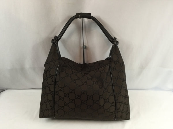 Gucci Brown Canvas Shoulder Bag