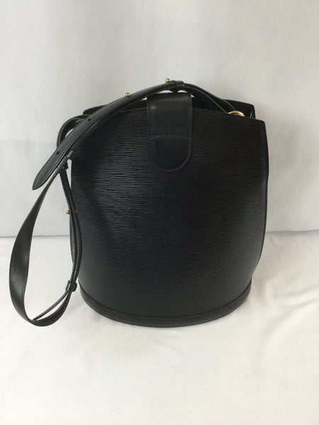 Louis Vuitton Black Epi Leather Cluny Shoulder Bag