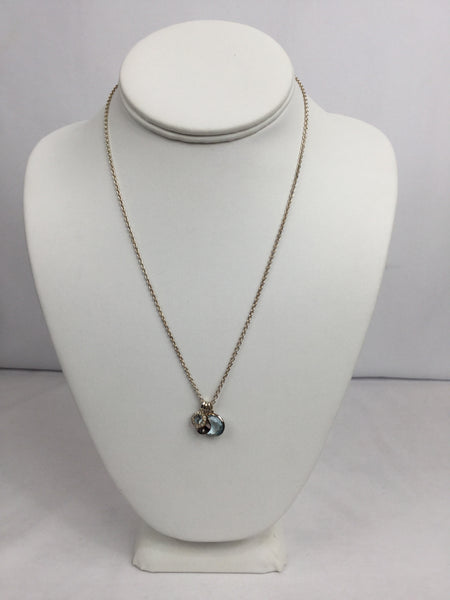 Ippolita Sterling Silver and Diamond Tri Pendant Necklace