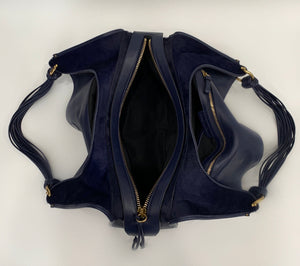 Stuart Weitzman Navy Novo Coquette Shoulder Bag (New)