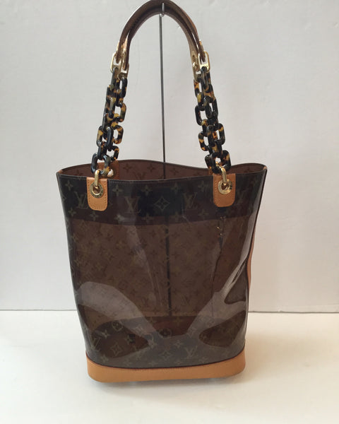 Louis Vuitton Ambre Vinyl MM Bucket Shoulder Tote