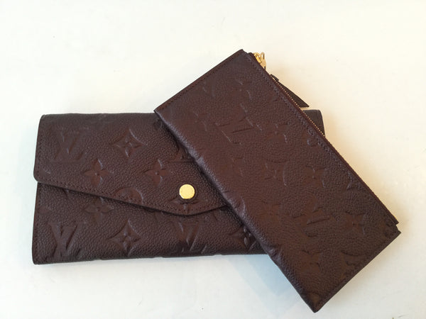 Louis Vuitton Empreinte Curieuse Long Bi-Fold Wallet w/ Coin Purse