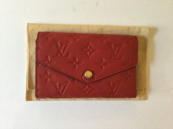 Louis Vuitton Red Empriente Curieuse Leather Wallet