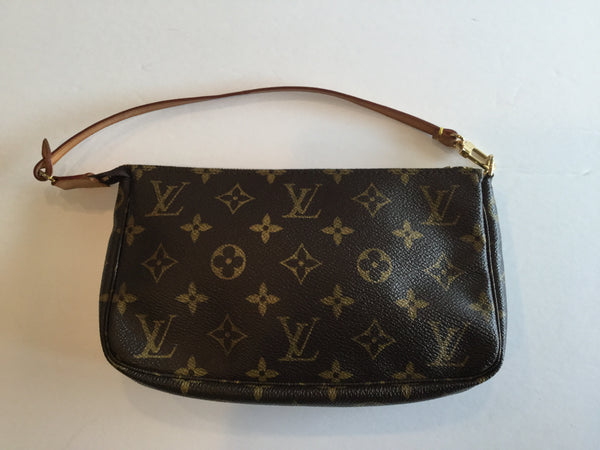 Louis Vuitton Monogram Canvas Pochette Wristlet