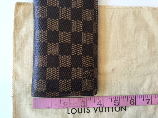 Louis Vuitton Damier Ebene Check Book Wallet