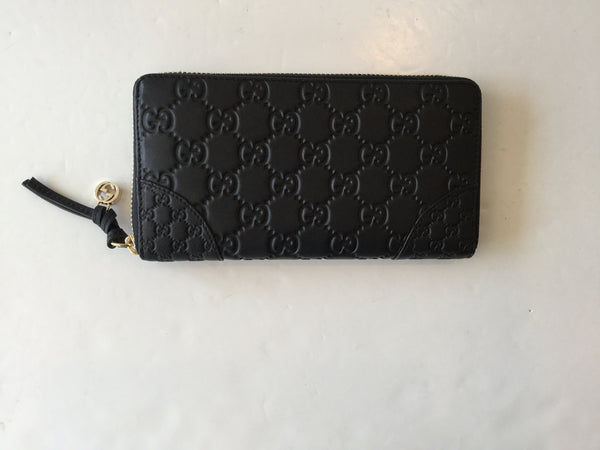 Gucci Black Bree Guccissima Long Wallet