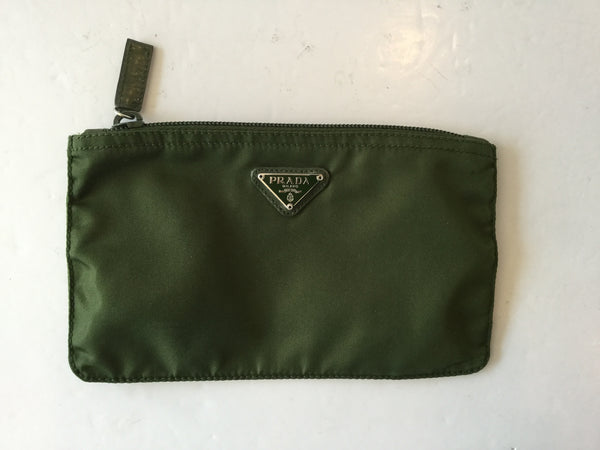 Prada Nylon Hunter Green Small Pouch
