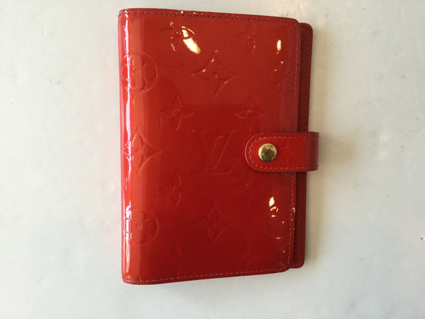 Louis Vuitton Red Vernis Leather Small Agenda Cover