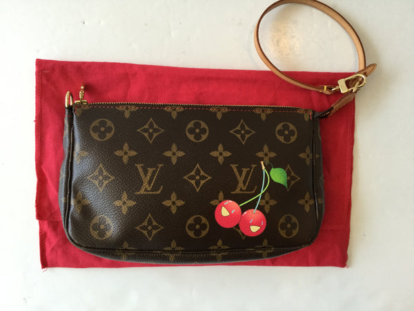 Louis Vuitton Cherry Cerises Monogram Canvas Limited Edition Pochette