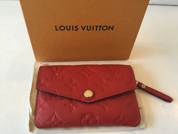 Louis Vuitton Red Empriente Leather Cerise Cles Key Pouch