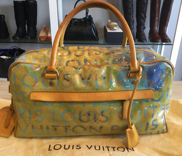 Louis Vuitton Prince Richard Collection Yellow & Blue Pulp PM Weekender Bag