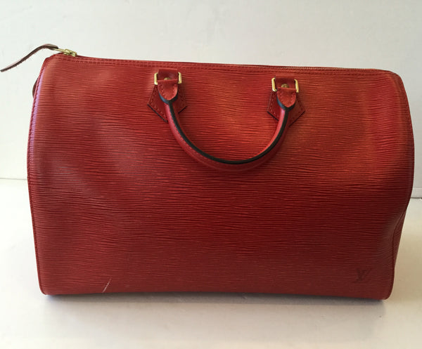 Louis Vuitton Red Epi Leather Speedy 35