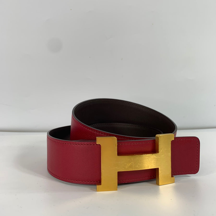Hermés 2 Reversible Belt Straps and 1 Buckle