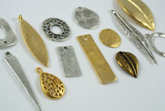 Designer Plated Components, Charms & Pendants