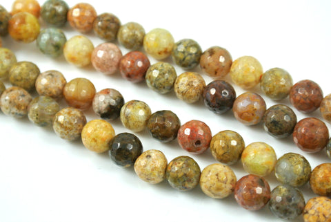 Agate Natural Rainbow Round Faceted 8mm
