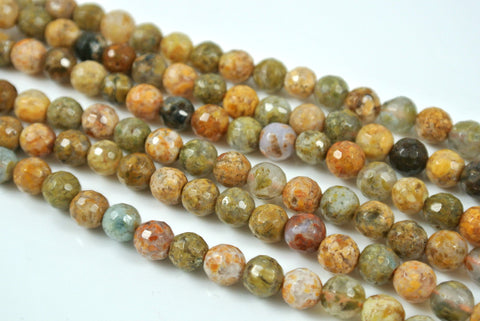 Agate Natural Rainbow Round Faceted 6mm
