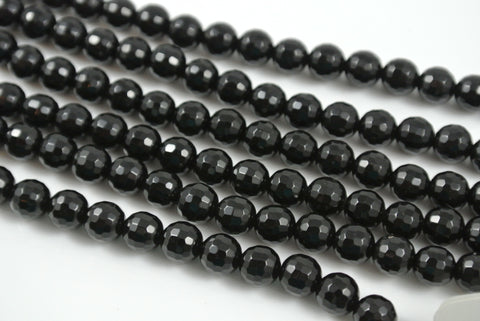 Onyx Black Round Faceted 6mm