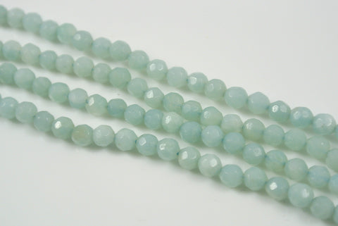 Amazonite Round Faceted 4mm