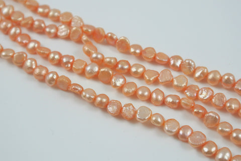 Freshwater Pearl Peach Small Baroque Nugget 5mm