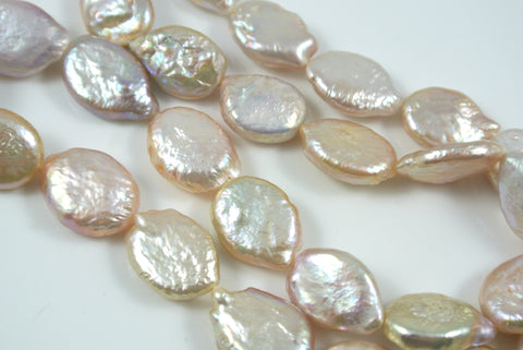 Freshwater Pearls Oval Flat Coin 9x12mm