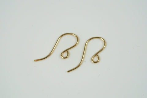 Gold-Filled Earwires Loop Plain 5 Pairs