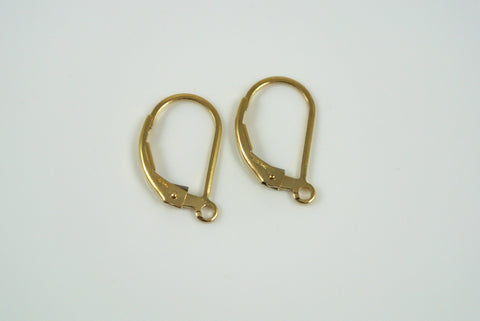 Gold-Filled Earwires Leverback 2 Pairs