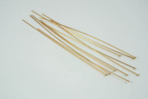 "Gold-Filled Head Pin 3"" 26g 10 Pieces"