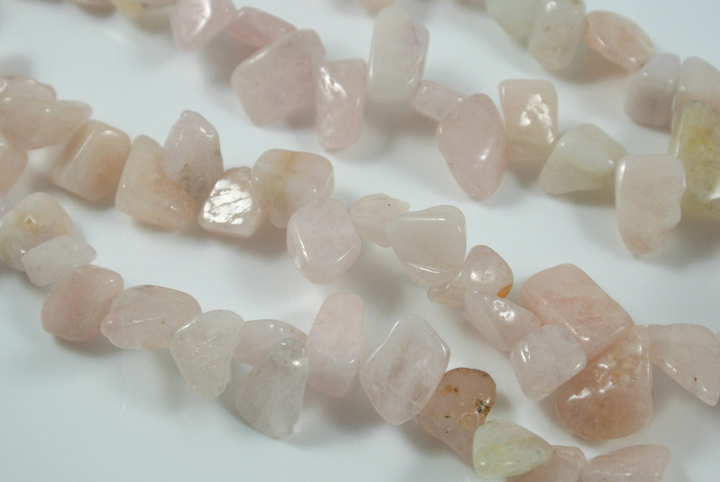 Morganite Top Drilled Chip 10-15mm