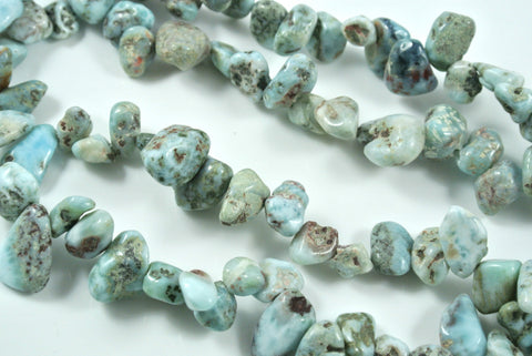 Larimar Top Drilled Chip 10-15mm