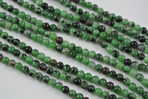Ruby Zoisite Round 4mm