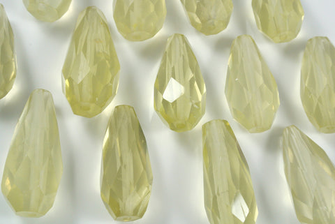 Lemon Quartz Faceted Drop 1 Piece