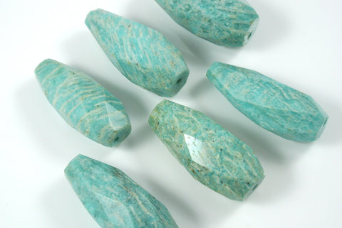Russian Amazonite Faceted Drop 1 Piece