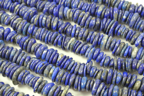 Lapis Lazuli Center Drill Free Form Chip Approximately 8-12mm