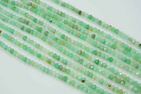 Chrysoprase Rondelle Faceted 2x3mm