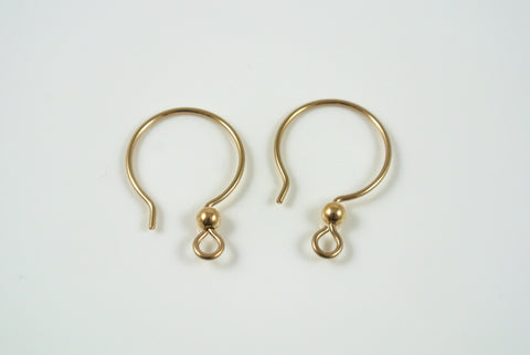Gold-Filled Earwires French Loop With Ball 2 Pairs