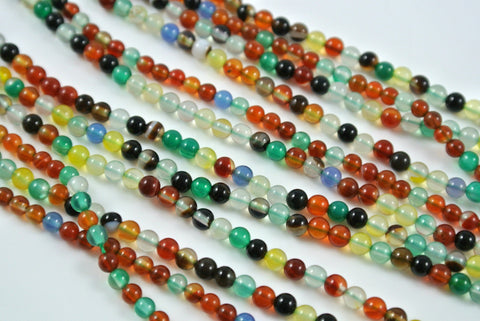 Agate Multi Color 3-3.5mm