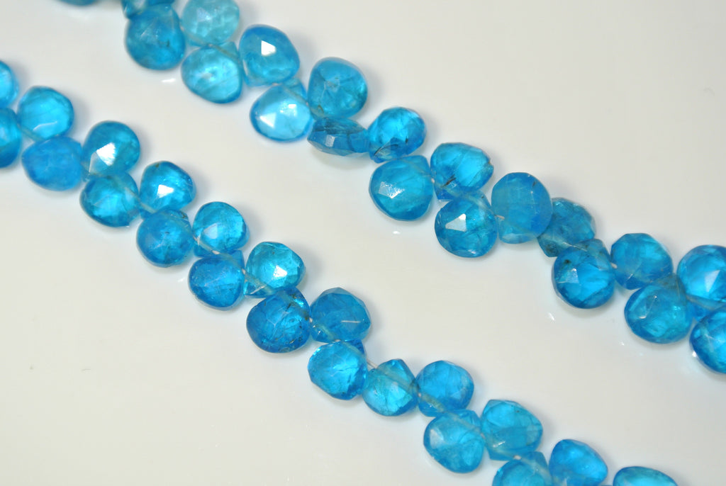 Apatite Faceted Briolette Drop 5x6mm 10 Pieces