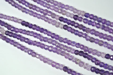 Amethyst Shaded Faceted Rondelle 2x3.5mm
