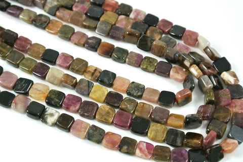 Tourmaline Flat Square 6mm