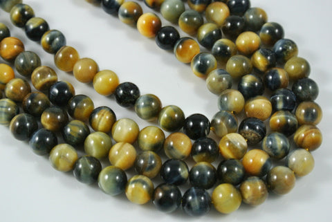 Honey Blue Tiger Eye Round 8mm