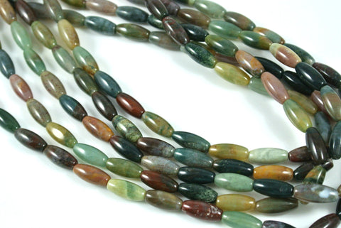 Fancy Jasper Oval Rice 5x12mm