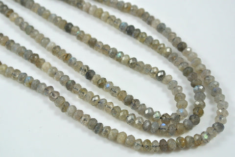 Labradorite Rondelle Faceted 2x4mm