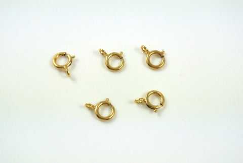Gold-Filled Clasp Spring Ring 5mm 5 Pieces